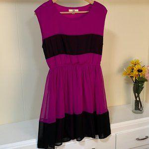 LAST CHANCE YA Los Angeles silk fuchsia Dress M